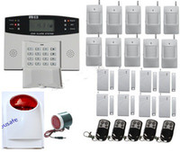 Wholesale Wireless Wired Home GSM SMS Burglar Security Alarm System NEW Tri Band