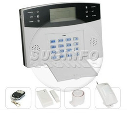 free shipping LCD home alarm system home shop security system