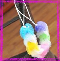 Wholesale 40pcs Bathroom Brushes Sponges Scrubbers Colorful Soft Comfortable Bathe Ball Bathroom Accessories