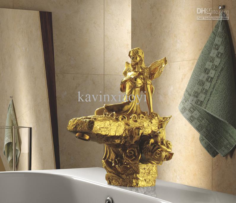 Bathroom Fixtures Gold bathroom sink beauty faucet gold clour sink faucet artistic basin
