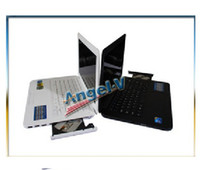 Wholesale 5PCS DHL Free inch laptop Intel Atom D2500 with DVD RW GHZ Dual Core notebook