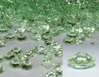 Wholesale Hot Light Green mm ACRYLIC DIAMONDS Wedding Decoration