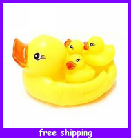 Bath Toys Animals Baby NEW Set of 3 + 1 duck Squeaky Bath Tub Toy Baby Infant Bath Rubber Duck Kids With Sound