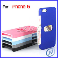 Plastic For Apple iPhone  For iphone5 5 5G 5S ID Credit Card Holder Slot Hard Plastic Case Protective Cover