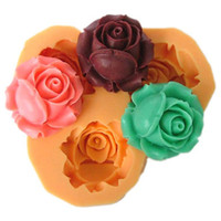 Wholesale Nicole silicone cake decorations rose mold fondant cake tools Diy silicone molds F0041