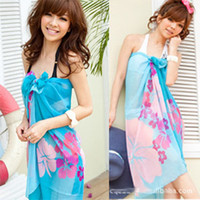 Wholesale 2013 Hot fashion chiffon sarong ladies beach skirts bikini sarong printing swimwear large size