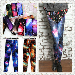 Wholesale Fashion Shinng Galaxy Leggings For Women Magical Cosmic Space Print Girls Leggings Tights Skinny