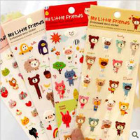 Wholesale Fresh and lovely cartoon foam stickers Cell Phone Skins decorative diary sticker cm mix bath
