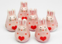 Wholesale DIY beads with rabbit design Ceramic beads beaded accessories
