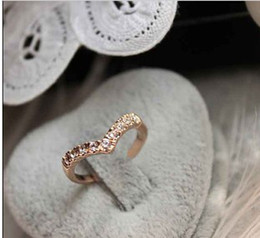 Wholesale Cheap Anniversary Rings For Women - Hot Sale Cheap Engagement Rings Plated Gold Rhinestone Ring For Women 24pcs Lot