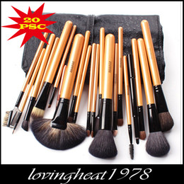 Wholesale Top quality lady makeup tool yellow wolf hair and wool lady Makeup Cosmetic Brush LH021