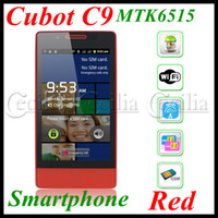 4.0 Android with Bluetooth Cubot C9 4.0 inch Smartphone MTK6515 1GHz CPU Dual SIM Android 2.3 android moblie phone-Red