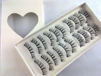 P22# Natural Cross False Eyelashes Black Lashes Fake Eyelash...