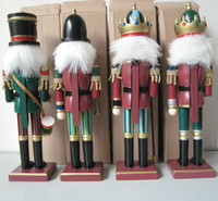 Wholesale 10 CM Nutcracker walnut soldiers hand painted walnut even wooden home Decoration abc34 EMS free