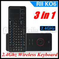 Wholesale Rii K06 in Ghz wireless keyboard mouse infrared remote controller touch pad of tv box games