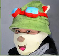 Wholesale League of Legends LOL Teemo Cosplay Cute Hat Mask Teemo Hat Teemo Mask