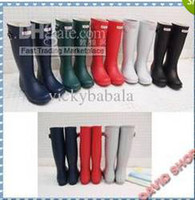 Wholesale Fashion Hunter Rain Boots Low Heels Waterproof Women Wellies Boots Woman