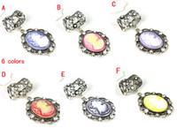scarf jewelry set  little girl jewelry - Fashion Scarf Pendants Jewelry Little girl pattern Necklace Pendants Set color PT