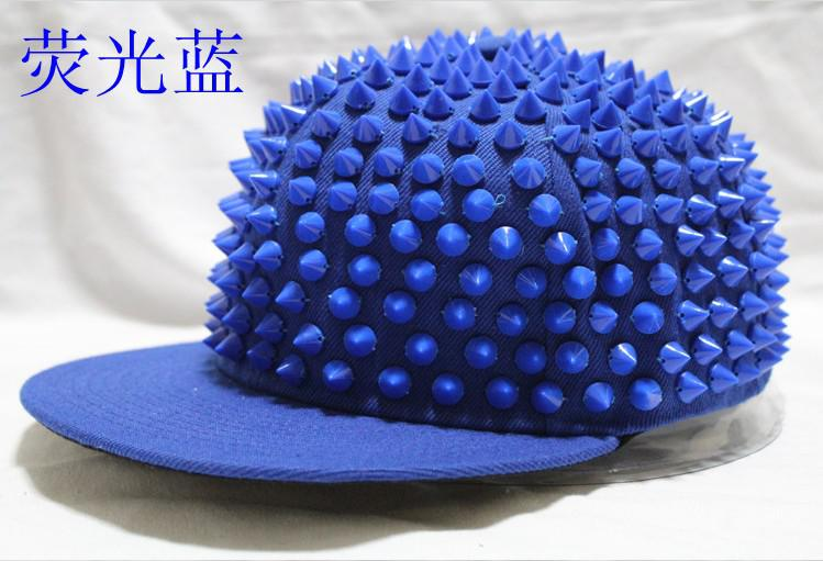 Bleu Rivet Chapeaux Snap Back Hiphop caps Fluorescent Rivet Casquettes réglable