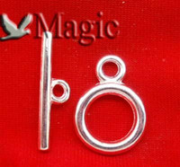 Wholesale Sets Silver Plated Metal Heart Toggle Clasp Jewelry Making Findings