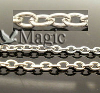 Wholesale M Silver Tone Link opened Chains Jewelry Making Findings x3mm Fashion