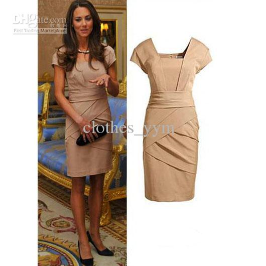2013 Hot Sale Western Style Women Dress Princess Kate Dress Short ...