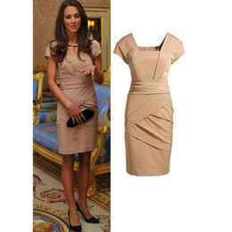 Wholesale 2013 Hot sale Western style women dress princess Kate dress short sleeve plus size formal wear