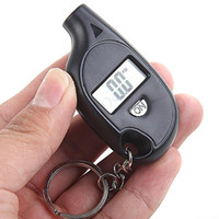 Wholesale 50pcs Portable Mini LCD Digital Tyre Tire Pressure Gauge Tester with Key Ring