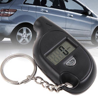 Wholesale 10pcs Portable Mini LCD Digital Tyre Tire Pressure Gauge Tester with Key Ring