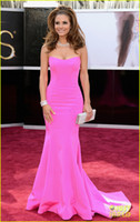 Wholesale Maria Menounos Oscar Party Dresses Sexy Hot Pink Sweetheart Mermaid Floor Length