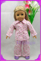 Plush american girl doll - LANS04 Night suit Doll Clothes Outfit For quot American Girl Dolls