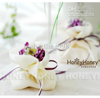 Country Style Diy New Wedding Flower Candy Box Bag Wedding Favors