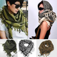 Wholesale New Military Shemagh Scarf Arab Chequered Arafat Keffiyeh Tactical Desert Wrap Green