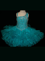 Wholesale 2013 Flower Girl dresses Peacock Feather Inspired Little Rosie Cupcake Pageant Gown R259