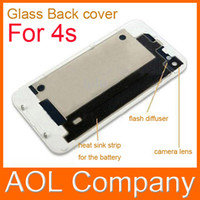 Wholesale high quality Glass Back Cover Housing Battery Door Back Door Glass Black amp White For s