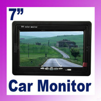 Monitor monitor stand - 7 quot TFT LCD Headrest Stand Color Car Monitor Rearview DVD VCR