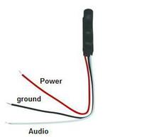 Wholesale 50 X Mic Microphone Sound Monitor For CCTV system spy camera Voice Audio Tiny Pick up Device