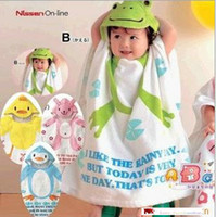 Wholesale Nissen Children s Towels Robes baby hooded bathrobe bath towel bath terry bathing
