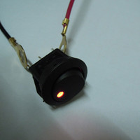 Wholesale 20PCS Red Led Dot Light V Car Boat Auto Round Rocker ON OFF SPST Switch