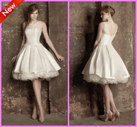 Wholesale New Gorgeous Jewel Tulle Satin Organza Knee length Short Prom Ball Gown Graduation Evening Dresses