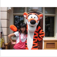Men tigger - Lovely Tigger Mascot Costume Adult Size Cartoon Mascot Animal Apparel