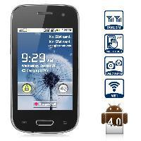 Wholesale Y9300 Android Smartphone with inch HVGA Screen Dual SIM Smdk4012 GHz Analog TV Black