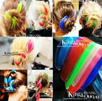Wholesale 15 off Colorful hair piece hot scissors color streaked wig piece many color