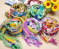 Wholesale 2013 New Lday s Square Scarves Imitated Silk Scarf Myth Printed Scarfs Skirt Bag Pattern Wrap