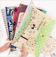 Wholesale 2013 New South Korea stationery A4 file data storage bags office folder Filing Supplies cm