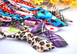 50pcs Factory Sale New Pet Elastic Neckties Tie Bow Pet Tie Dog Pet Clothes Cat Dog Ties BOWS (H106)