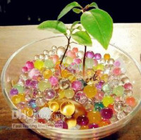 Wholesale 50 bags Colorful Crystal Mud Soil Water Beads For Flower Plant magic crystal soil H101