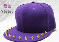 blank baseball caps - Rivet Caps Blank Baseball Caps Snapback Hat Adjustable Spike Studs Hat Rivet Hat Punk Hiphop caps