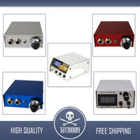 Wholesale Stainless Steel Dual Digital MINI LCD Tattoo Power Supply arrive within days