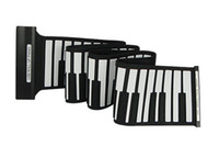 Wholesale Musical Instruments Keys USB Rubberized Flexible Roll Up Roll up Electronic Piano Keyboard D2234A
